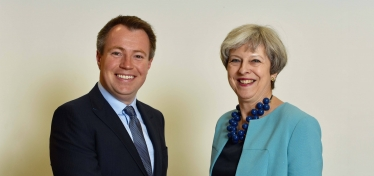 Will Gallagher and Theresa May